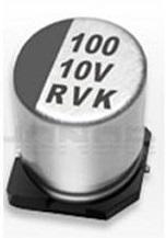 贴片铝电解电容 22uF 6.3V Φ4mm*5.4mm    P=1.0mm